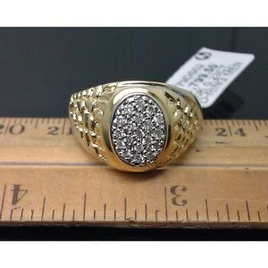 Other - Real Diamond & Solid Gold Men's Pinky Ring Size 10